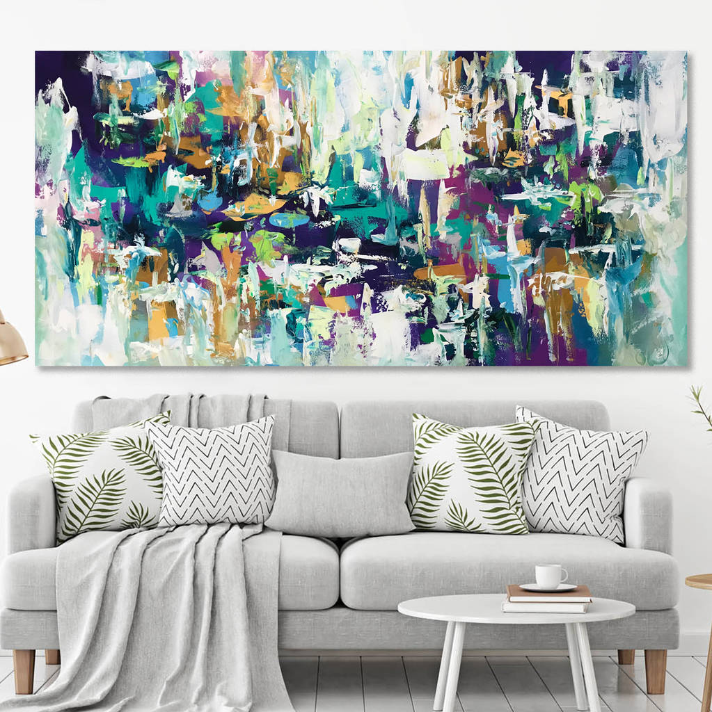 Abstract Canvas Painting Wall Art Original Acrylic Art