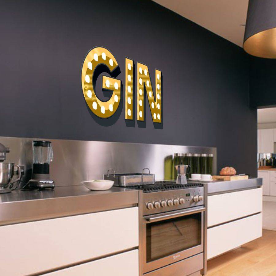 Light Up Letters For Wall Classy Gin Light Up Letters Effect Wall Stickerkapow Boom Graphics Review