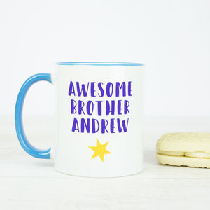 Personalised Brother Mug - dining room
