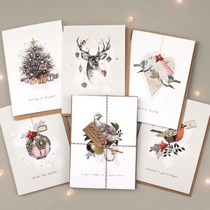 Pack Of Bohemian Christmas Cards