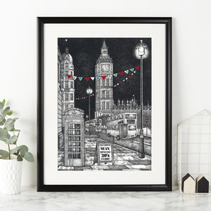 Personalised Big Ben News Announcement Print - drawings & illustrations