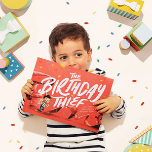 The Birthday Thief: Personalised Children's Book - 1st birthday gifts