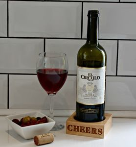 'Cheers' Wooden Wine Bottle Holder