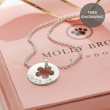 Personalised Hope Flower Girl Necklace