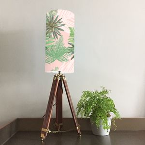 Tropical Plant Lampshade - bedroom