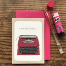 Typewriter Valentine's Day Card