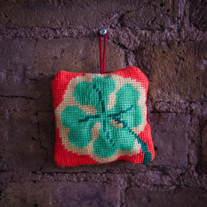 Lucky Four Leaf Clover Tapestry Lavender Bag Kit - creative kits & experiences