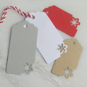 Six Snowflake Christmas Gift Tags