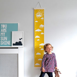 Personalised Dream Big Canvas Height Chart - whatsnew
