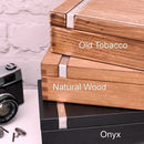 Choice of Wood Finishes on Cuff Link Box