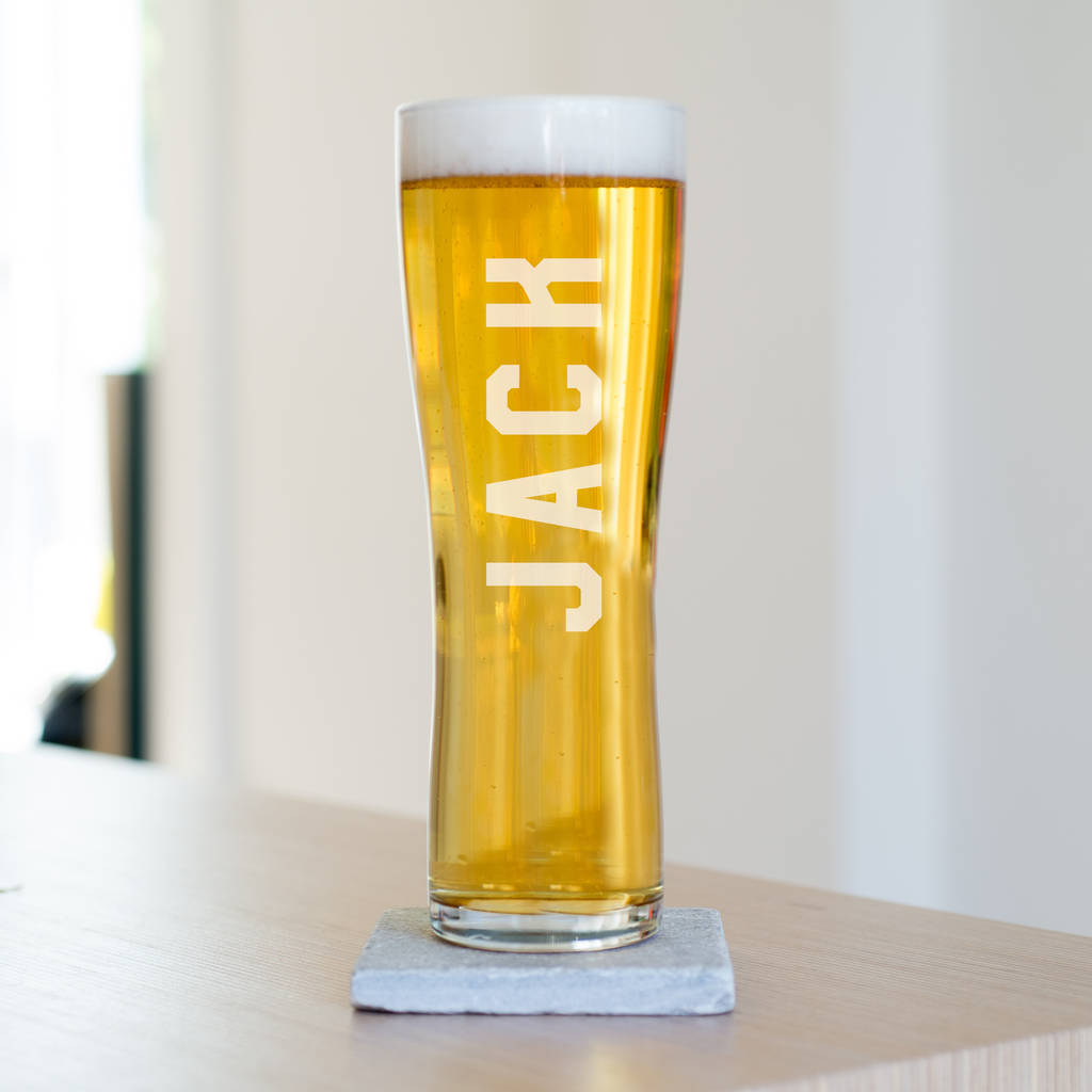 Name Pint Beer Glass By Oh So Cherished ...