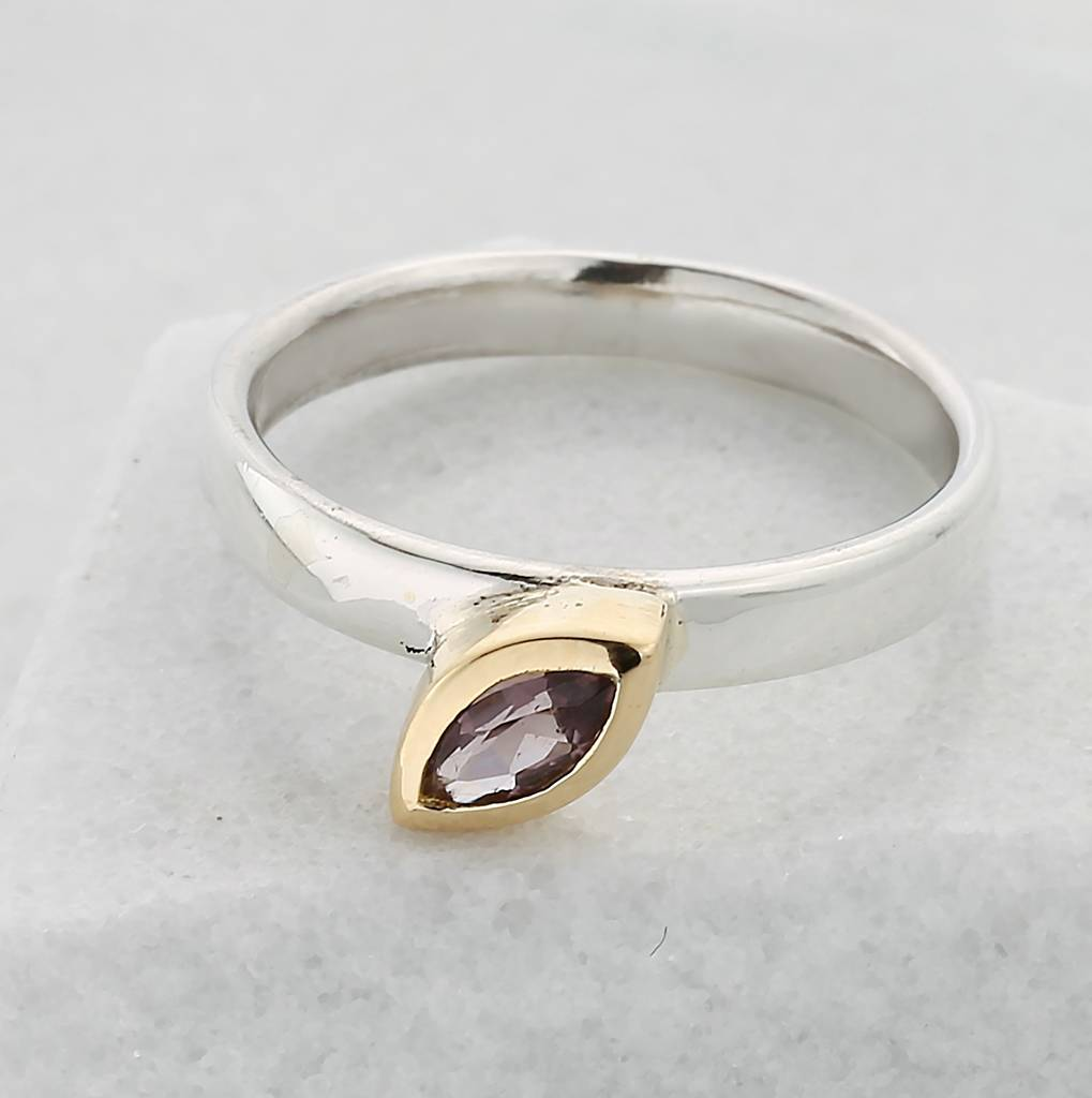 Pink Tourmaline Stacking Unity Ring