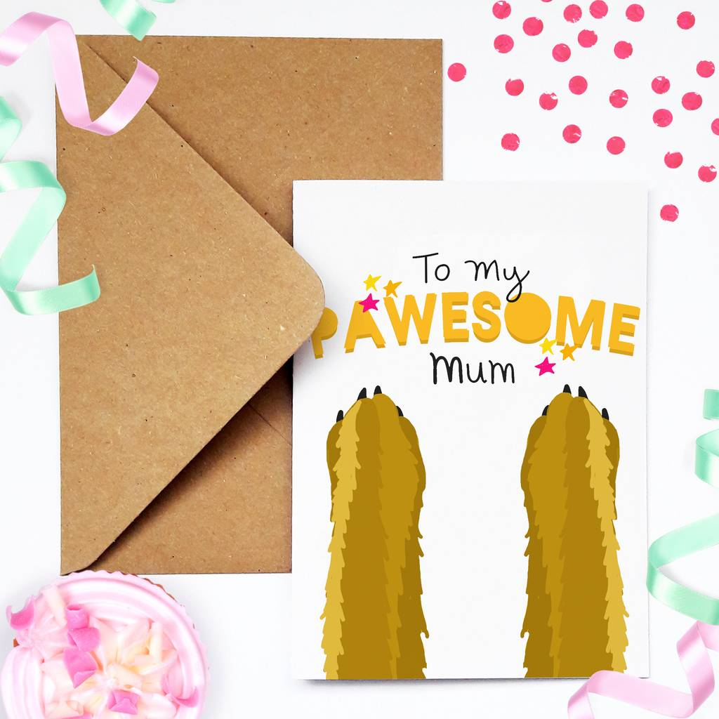Funny Dog Lover Birthday Card For Mum