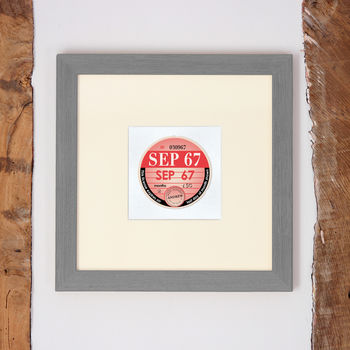 Personalised Birthday 'Tax Disc' In Frame