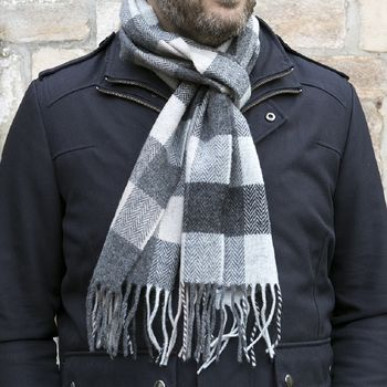 Lambswool Classic Grey Scarf Collection