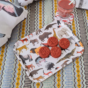 African Animal Breakfast Tray - trays