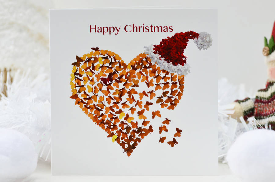 Romantic christmas heart card silver christmas heart by inkywool romantic christmas heart card silver christmas heart m4hsunfo