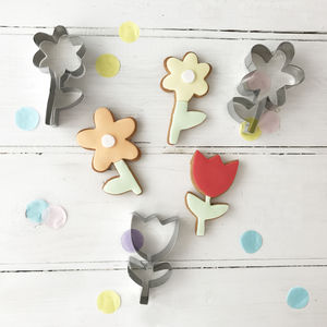 Floral Themed Cookie Cutters - kitchen accessories