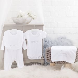 Personalised Christening Baby Gift Set - christening wear