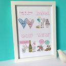 Personalised Wedding Story Print