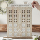 Personalised Sweet Wooden House Advent Calendar