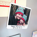 Christmas Message Photo Fridge Magnet