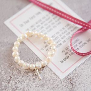 Girl's Holy Communion Bracelet With Verse - children's jewellery