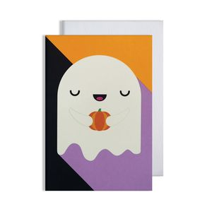 Halloween Ghost Glow In The Dark Card