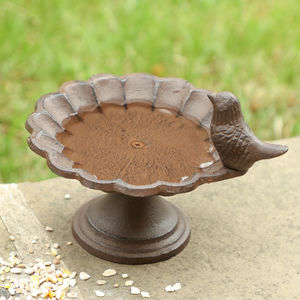 Luxury Personalised Cast Iron Bird Bath Gift - art & decorations