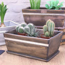 Dark Wood Pot Planter Personalised for Mum