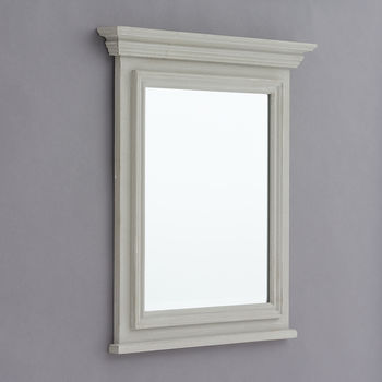 Evie Grey Or White Wood Framed Mirror
