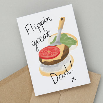 Flippin' Great Dad Funny Father's Day Or Birthday Card