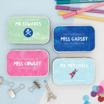 Personalised 'Thank You Teacher' Gift Tins