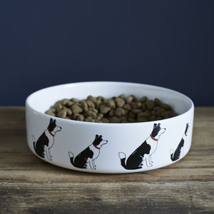 Border Collie Dog Bowl - dogs