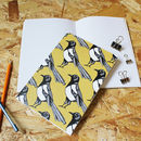 Yellow A5 Magpie Notebook With Blank Pages