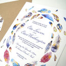 Bohemian Feathers Wedding Invitation