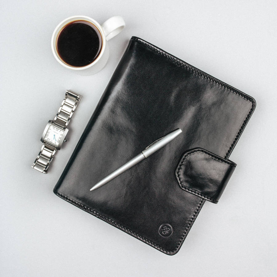 Personalised A5 Luxury Leather Notebook. 'The Mozzano'