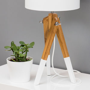 Dipped Leg Tripod Table Lamp Base Choice Of Colours - dining room