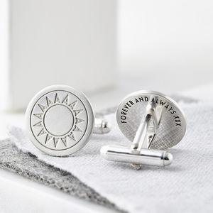 Personalised Sterling Silver Initial Cufflinks
