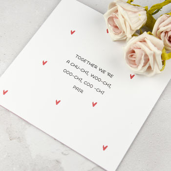 Personalised Funny Valentine's Card