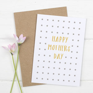 Modern Stars Mothers Day Card
