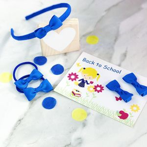 School Hair Accessory Set And Back To School Card