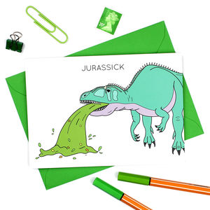 Jurassic Get Well Soon Dinosaur Card