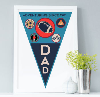 Adventure Dad Personalised Pennant