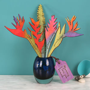 I Love You Because… Tropical Wooden Keepsake Flowers - new in wedding styling