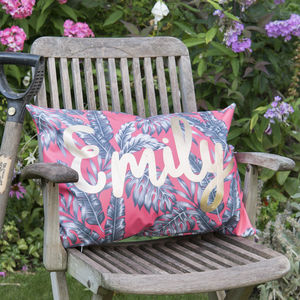 Personalised Name Outdoor Cushion - picnic rugs