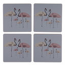 Flamingo Party Everyday Coaster Set Of Four
