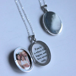 Sterling Silver Personalised Locket Necklace