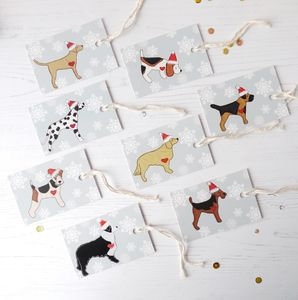 Dog Christmas Gift Tags - wrapping