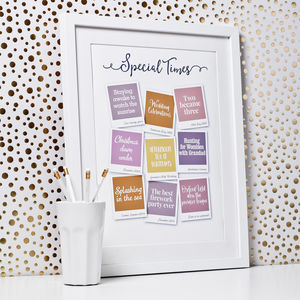 Special Times Personalised Print - what's new